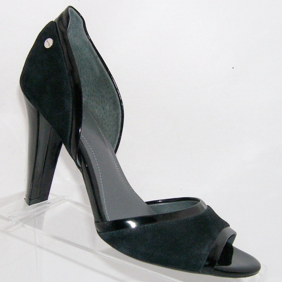 6e6f21dca9 Calvin Klein Shoes | May Black Suede Dorsay Heel 85m | Poshmark